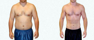 Men's body shape results after weight loss medicine