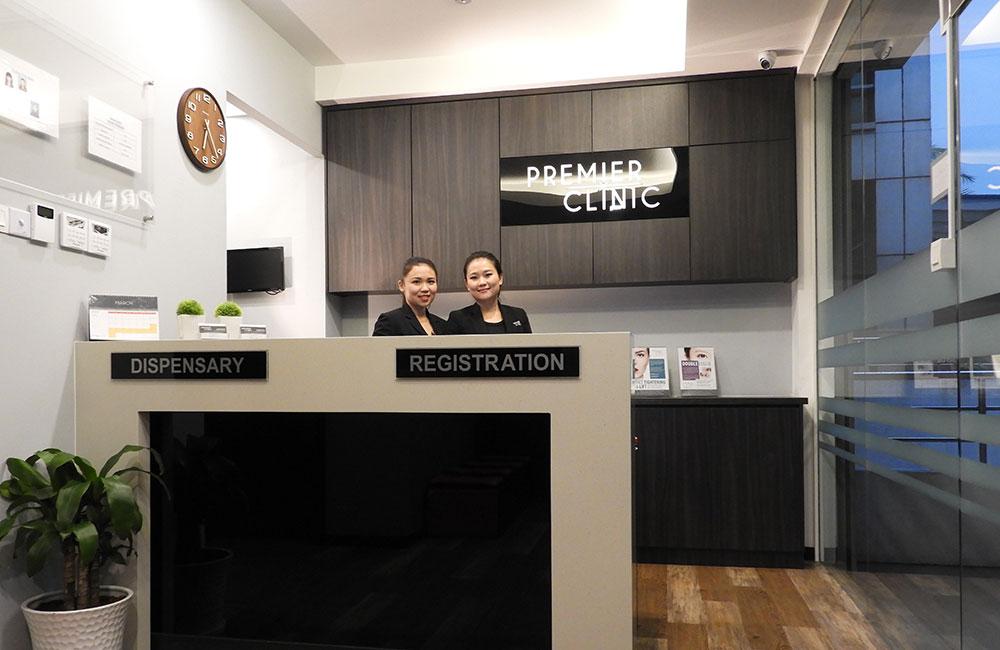 Premier Clinic Puchong reception