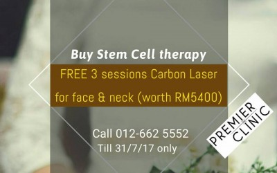 Sign up a Stem Cell Therapy & Get 3 Carbon Peel Laser Session for FREE