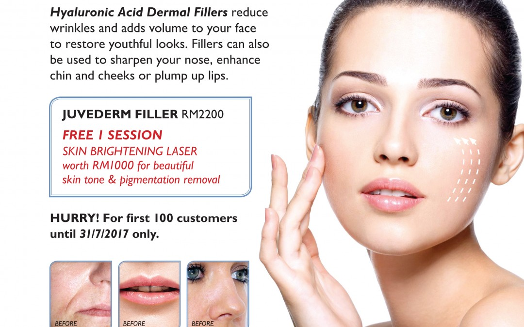 1 Syringe of Dermal Fillers for 1 FREE Skin Brightening Session