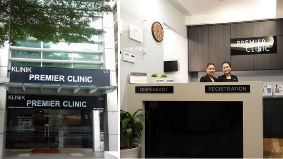 Premier Clinic Exterior and Reception